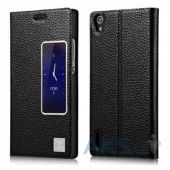 Чехол Xoomz Litchi Pattern Leather для Huawei Ascend P7 Black