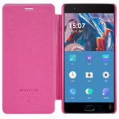 Вид 2 - Чехол Nillkin Sparkle Leather Series OnePlus 3, 3T Pink
