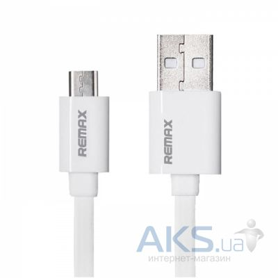 Кабель USB REMAX Classic Charging microUSB Cable White