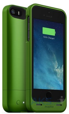 Чехол Mophie Juice Pack Helium Apple iPhone 5, iPhone 5S, iPhone SE Green 1500 mAh (JPH-IP5-GRN-I))