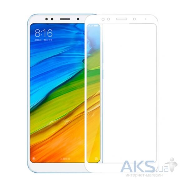 Защитное стекло Tempered Glass 3D Full Cover Xiaomi Redmi 5 Plus White