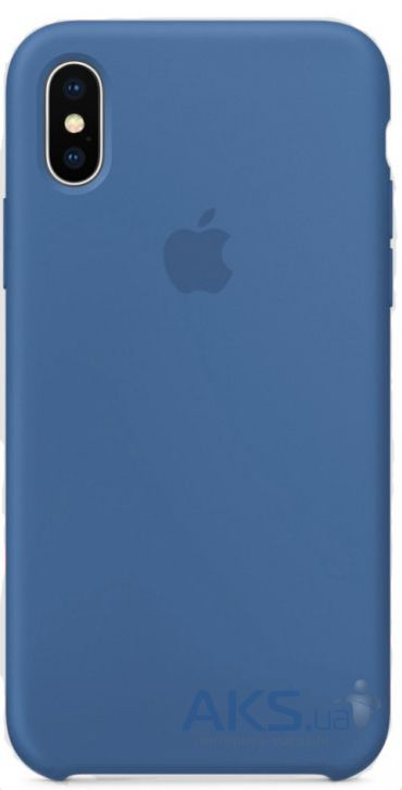 Чехол Apple Silicone Case iPhone X Blue_HC