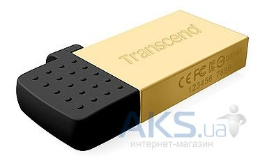 Флешка Transcend JetFlash OTG 380 8GB Gold