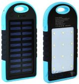 Внешний аккумулятор power bank MANGO Solar + LED 2USB 6000mAh Black/Blue