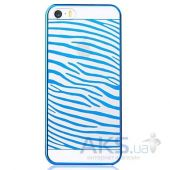 Чехол Vouni Glimmer Zebra Apple iPhone 5, iPhone 5S, iPhone 5SE Blue