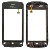 Сенсор (тачскрін) Nokia C5-03, C5-06 with frame (original) Black