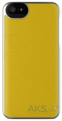 Чехол Adopted Leather Frame Apple iPhone 5, iPhone 5S, iPhone SE Yellow