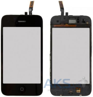 Сенсор (тачскрин) для Apple iPhone 3GS with frame Black