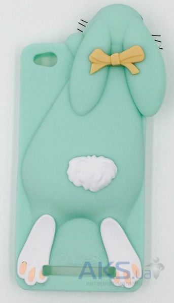 Чехол Moschino 3D TPU Rabbit Xiaomi Redmi 3 Mint Green