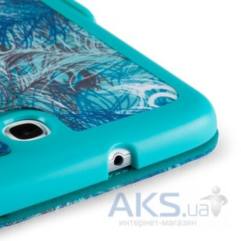Speck Samsung Galaxy Note 8 FitFolio Peacock Plumes Blue/Caribbean Blue (S