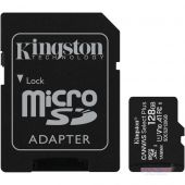 Карта памяти Kingston microSDXC 128GB Canvas Select Plus Class 10 UHS-I U1 V10 A1 + SD-адаптер (SDCS2/128GB)