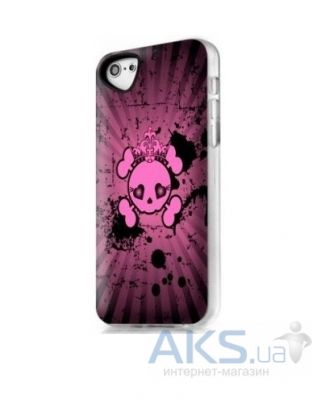Чехол ITSkins Phantom for iPhone 5C Pink Skull (APNP-PHANT-PINK)