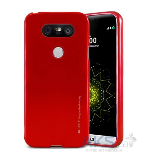 Чехол Mercury Jelly Metal Series LG G5 H850 Red