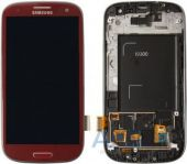 Дисплей (экраны) для телефона Samsung Galaxy S3 I9300 + Touchscreen with frame Original Red