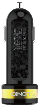 Зарядное устройство LDNio 2xUSB Car charger (2.1A Max) Black (DL-C21)