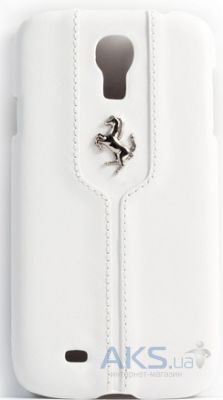 Чехол Ferrari Montecarlo Collection Leather Hard Case for Samsung Galaxy S 4 White (FEMTHCS4WH)