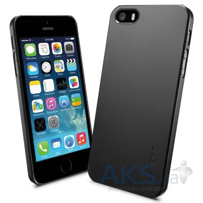 Чехол SGP Case Ultra Thin Air A Smooth Black Apple iPhone 5, iPhone 5S, iPhone 5SE Black (SGP10499)