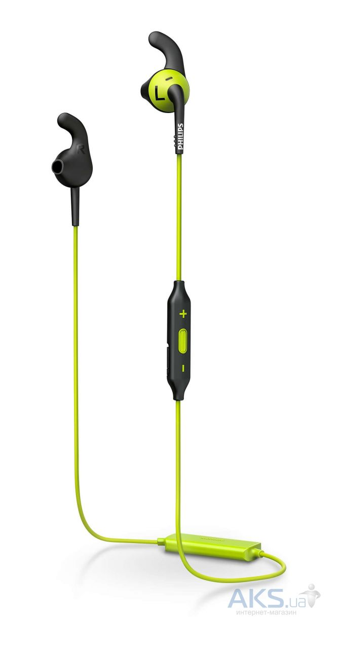 Наушники (гарнитура) Philips ActionFit SHQ6500CL/00 Carbon lime