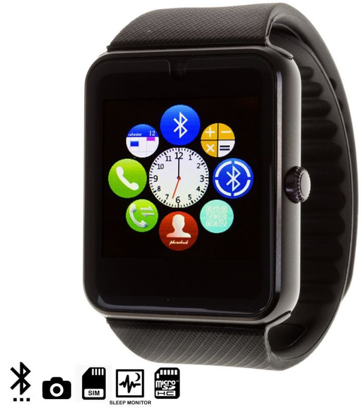 UWatch Smart GT08 Black with Black strap 71b315a4b263a